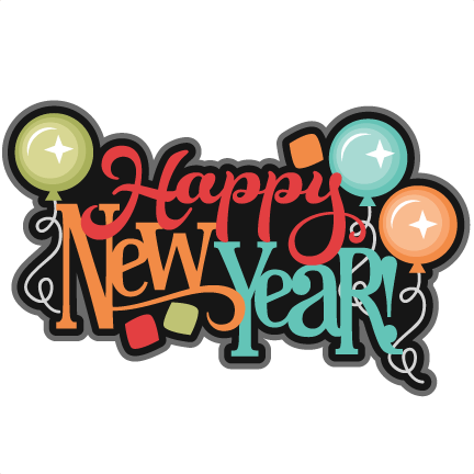 Holidays - Happy New Year Scrapbook Clipart (432x432), Png Download