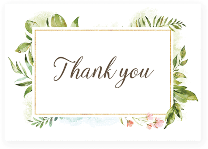 Download Green Leaf Thank You Card Printable By ...