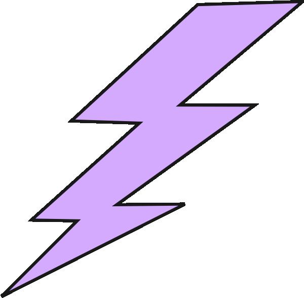 Lightning Bolt Clip Art At Clker Com Vector Clip Art - Purple Lightning Bolt Clipart (600x588), Png Download