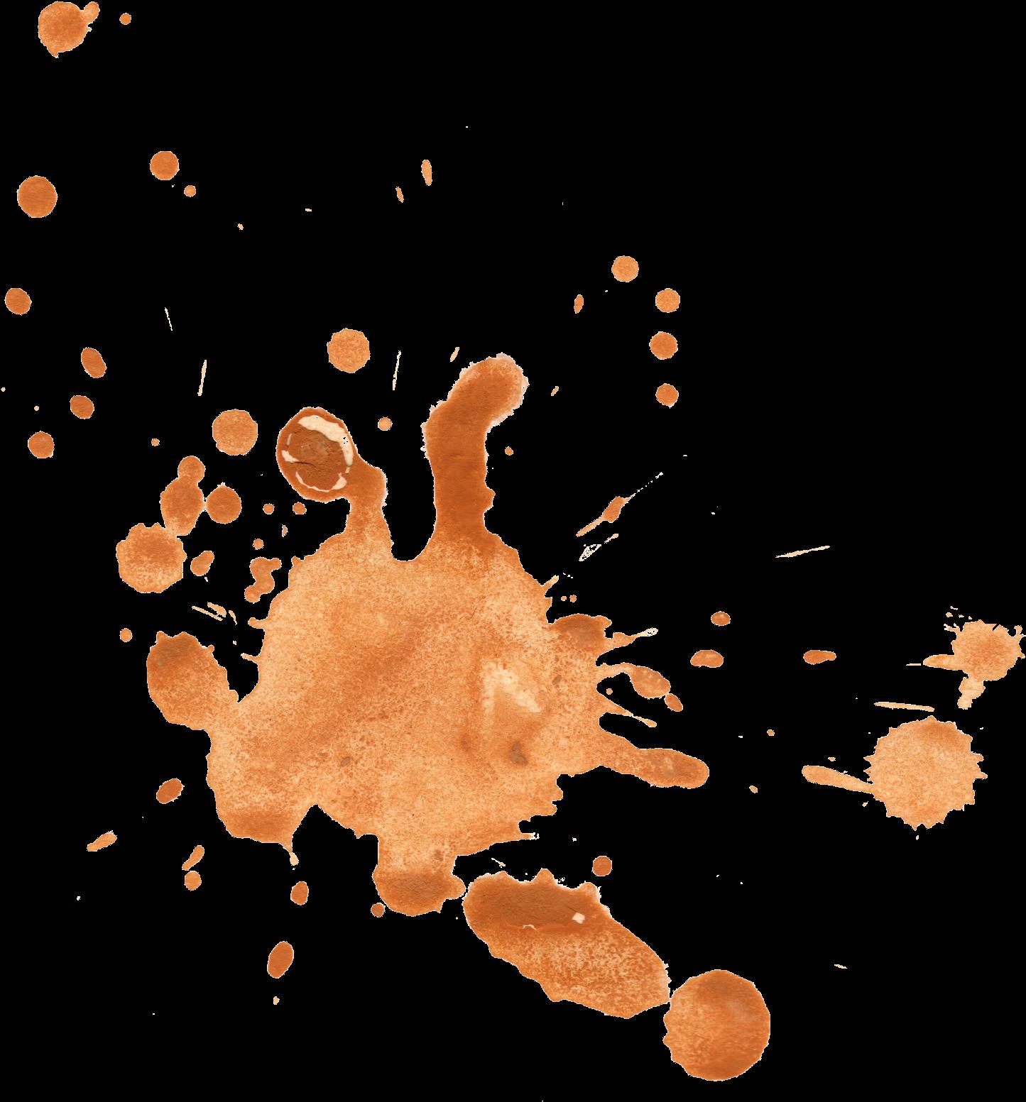 Clip Art Transparent Library Watercolor Splatter Png - Orange Watercolor Splash Png (1568x1623), Png Download