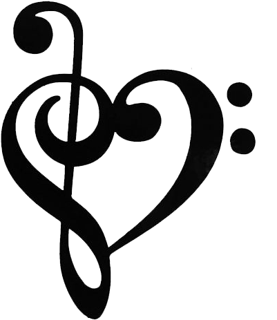 Clef Note Resolution - Music Note Heart Png (500x500), Png Download