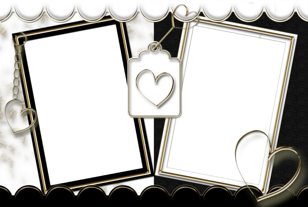 Double Photo Frames Png Image With No Background