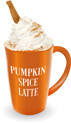 Pumpkin Spice Latte Png (408x408), Png Download