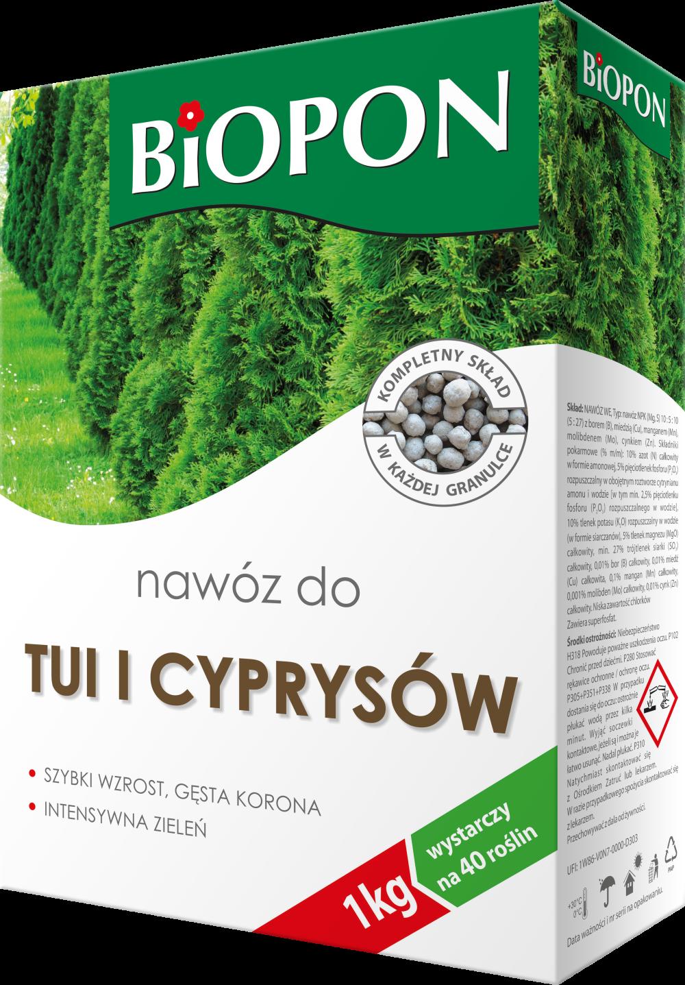 Biopon Arborvitae And Cypress Trees Fertilizer - Biopon Concime Biopon 1042 (1000x1437), Png Download