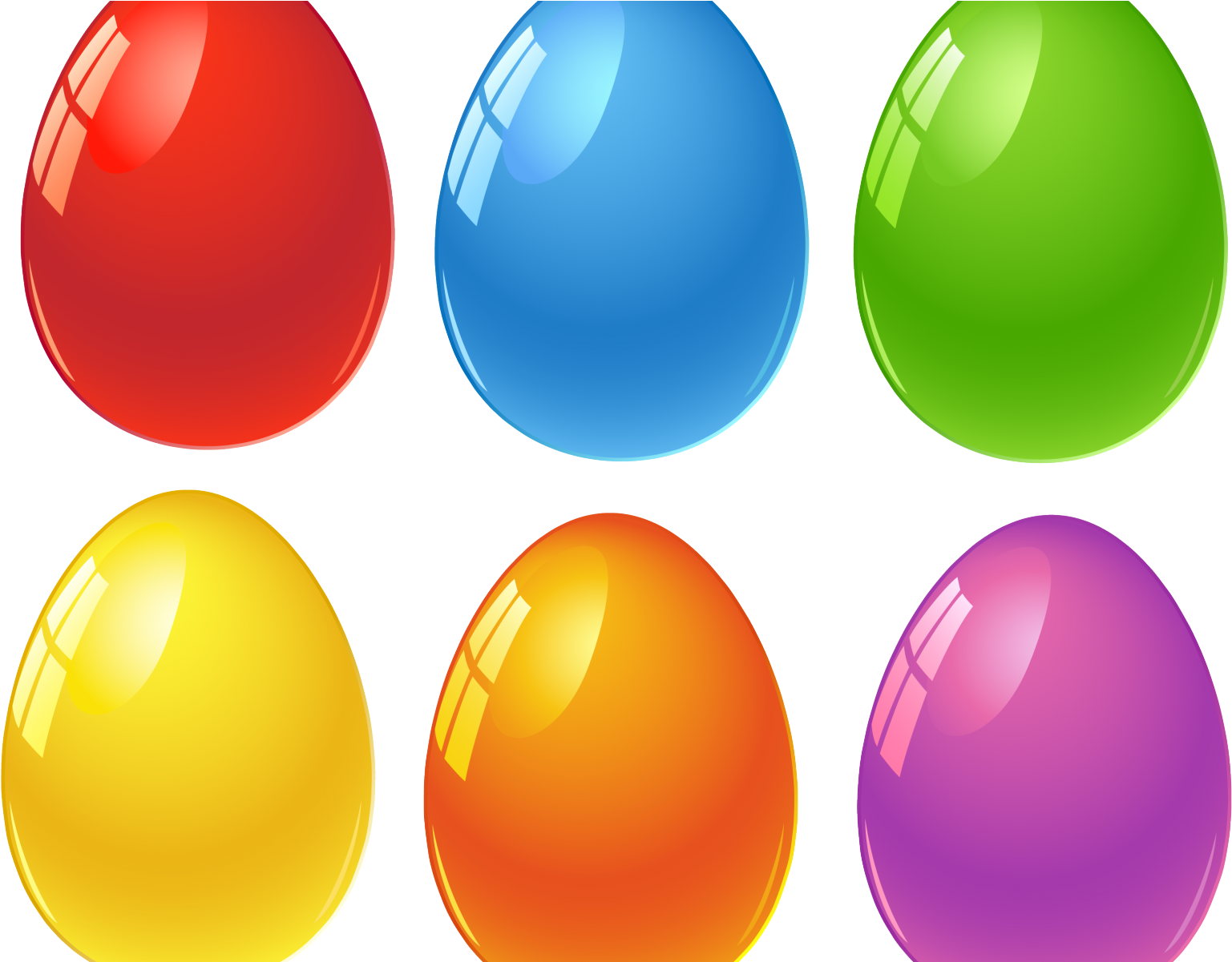Colored Easter Eggs Printable (1600x1200), Png Download