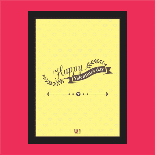 Happy Valentines Day Photo Frame 1489761375lym Main - Caterpillar (500x650), Png Download