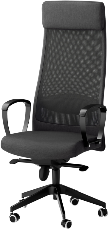 Ikea Markus Chair Png Image With No, White Computer Chairs Ikea