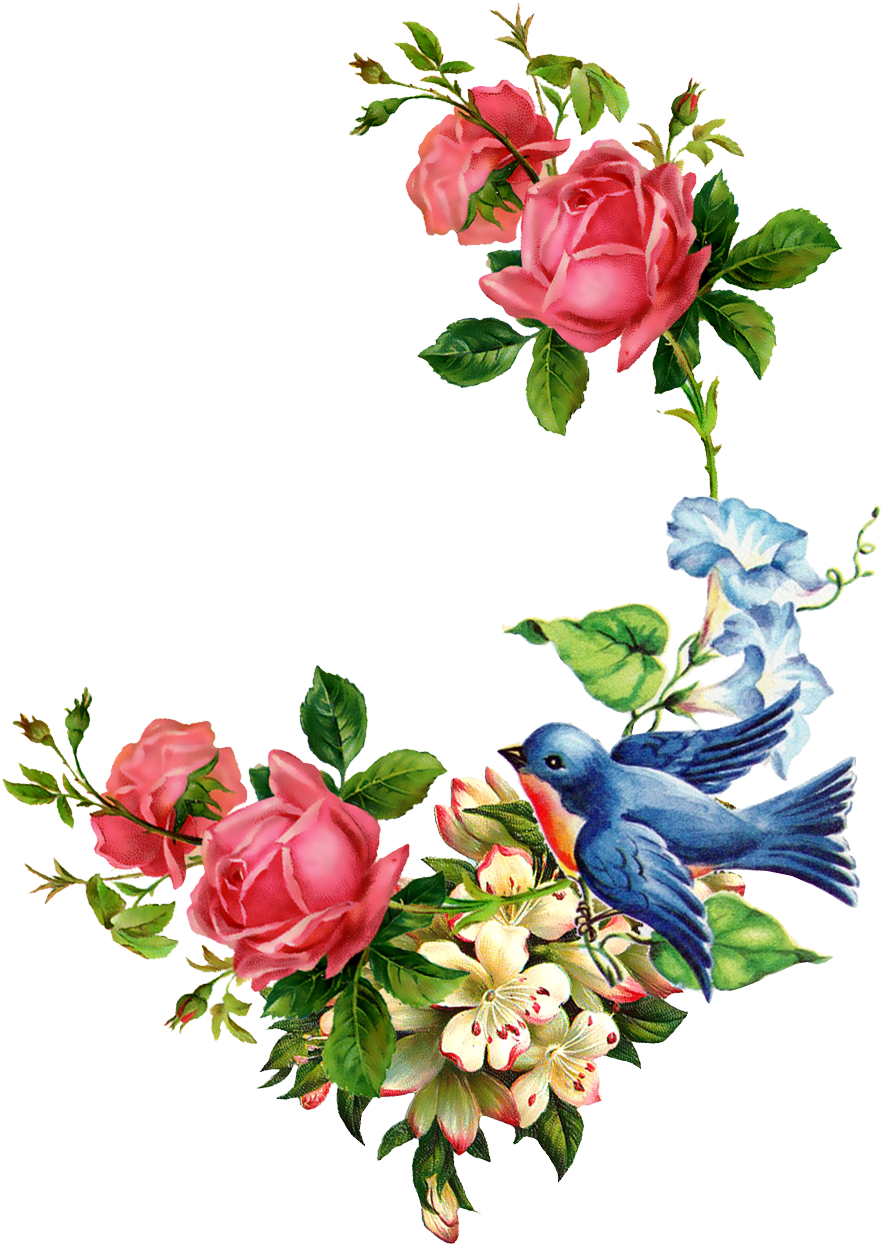 Download Jolie Fleur Tole Painting Vintage Floral Vintage Png