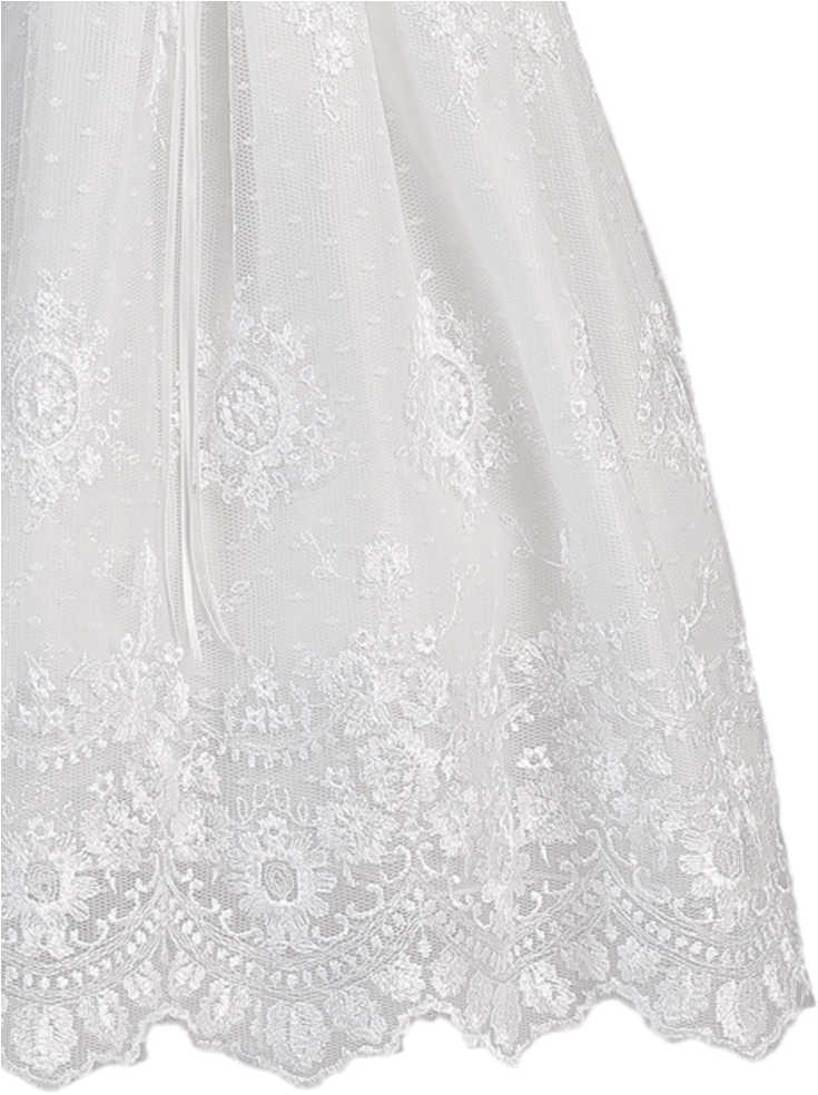 Download Baby Girls Floral Embroidered Tulle Christening Gown Lace