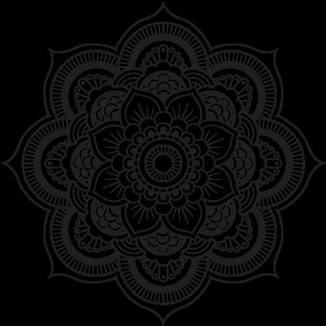 Download Coloriage De Mandala Fleur Oriental Pour Colorier Png