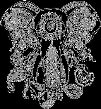 Download Vector Elephant Mandala Dibujos Para Colorear