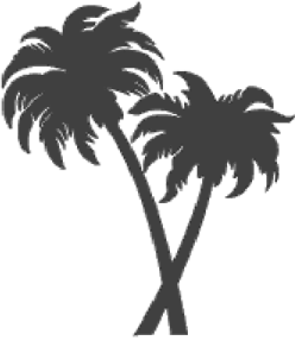 Fired Up Tiles Trees - Two Palm Trees Clipart (500x500), Png Download
