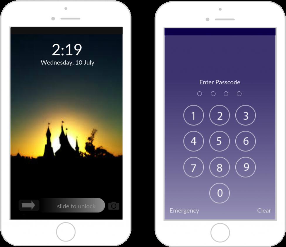 Download Iphone Lock Screen Mockup   Iphone 21 Lock Screen Template ...