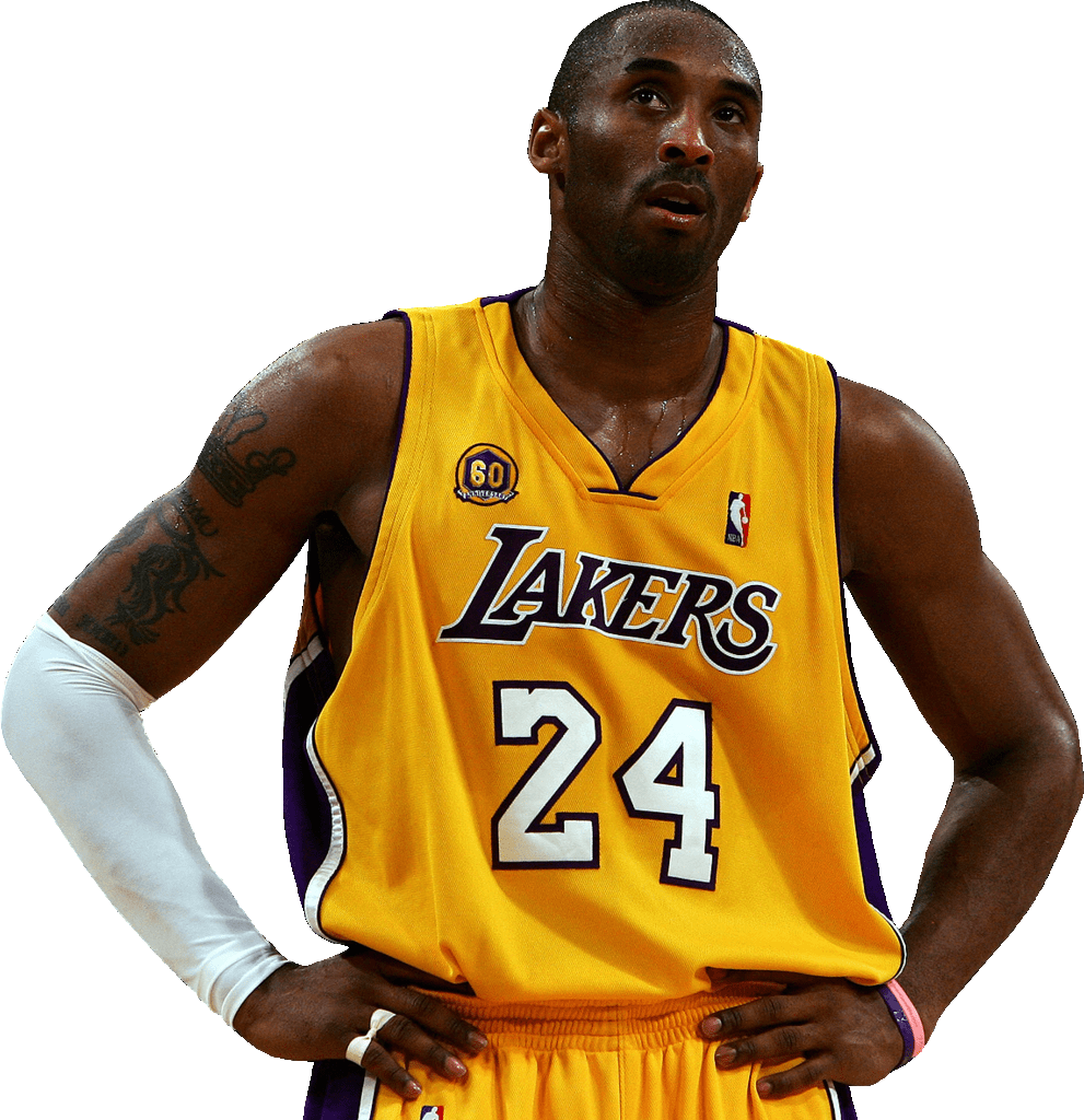 Kobe Bryant Looking Up - Kobe Bryant With No Background (991x1024), Png Download
