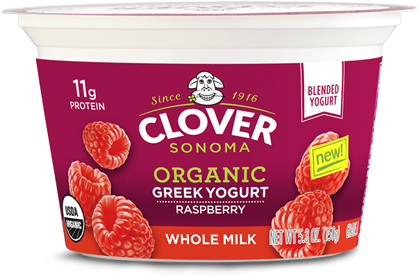 Raspberry - Clover Ice Cream, Cookies & Cream - 1.5 Qts (1.42 (645x415), Png Download