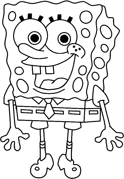 Spongebob Characters Coloring Pages - Coloring Home | 709x493