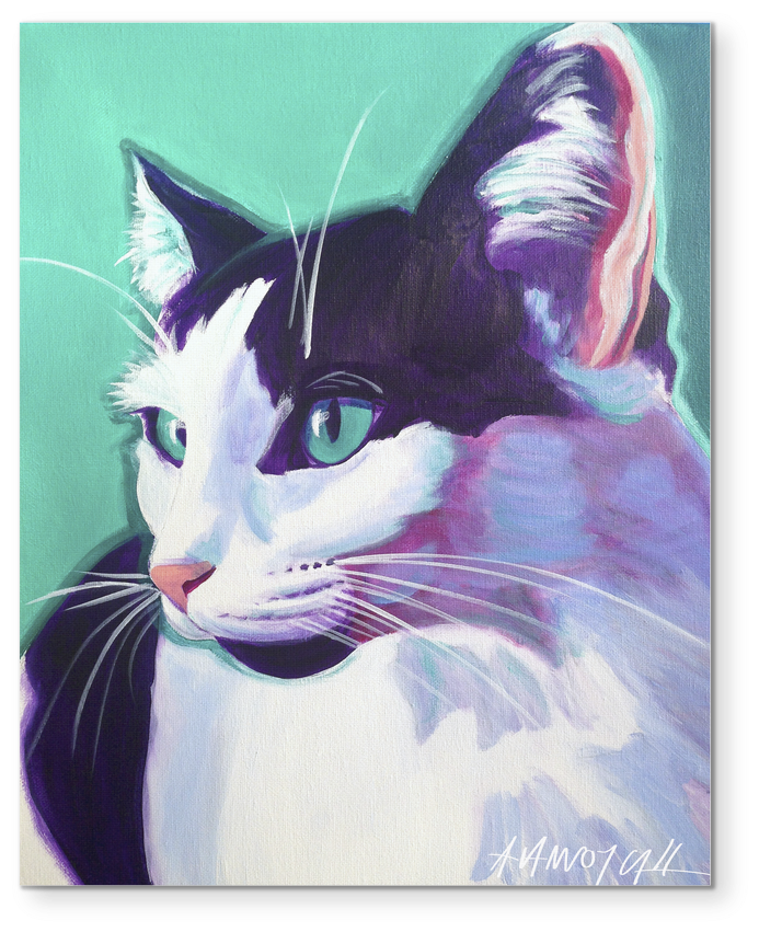 Premium Cat Art Collection - East Urban Home 'cat Kitty' Framed Painting Print (1024x1024), Png Download