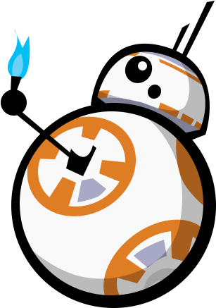 First Of The Four Commission Pieces Ordered By Prawnboy101 - Bb8 Thumbs Up Emoji (344x450), Png Download