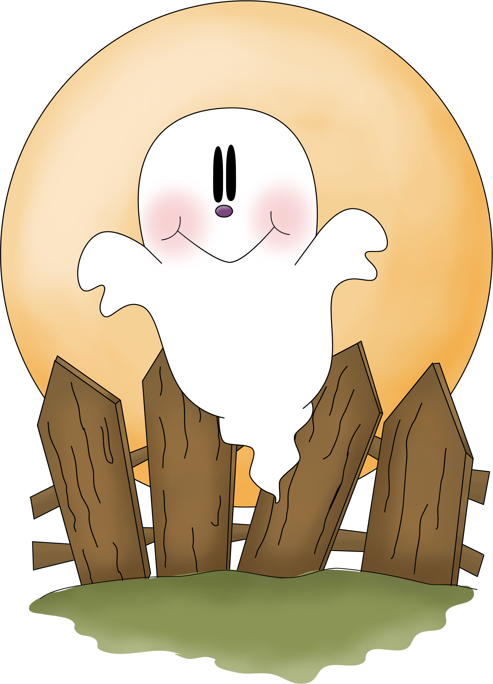 Ghost Clipart Halloween Decoration - Dibujos Y Manualidades De Hallowen Kitty Cat Clip Art (2036x2824), Png Download