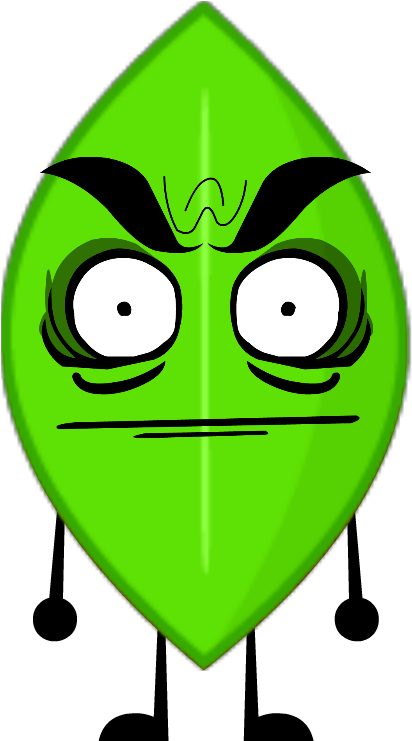 Download Green Evil Leafy - Bfdi Leafy PNG Image with No