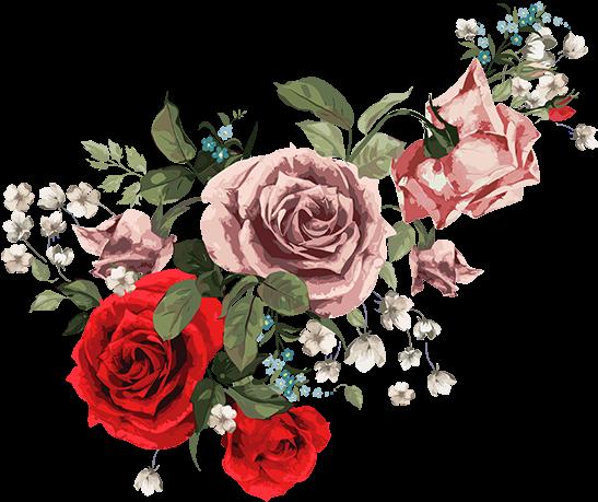 Download Tubes Fleurs Bouquets Vintage Roses White Case