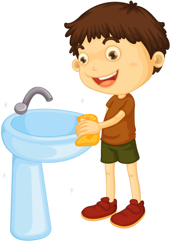 Download Kids Clipart Laundry Boy Cleaning The Bathroom Clipart