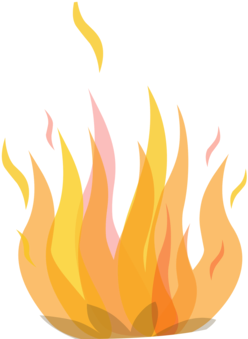 Fire Download Flame Drawing Conflagration - Clipart Fire (362x340), Png Download
