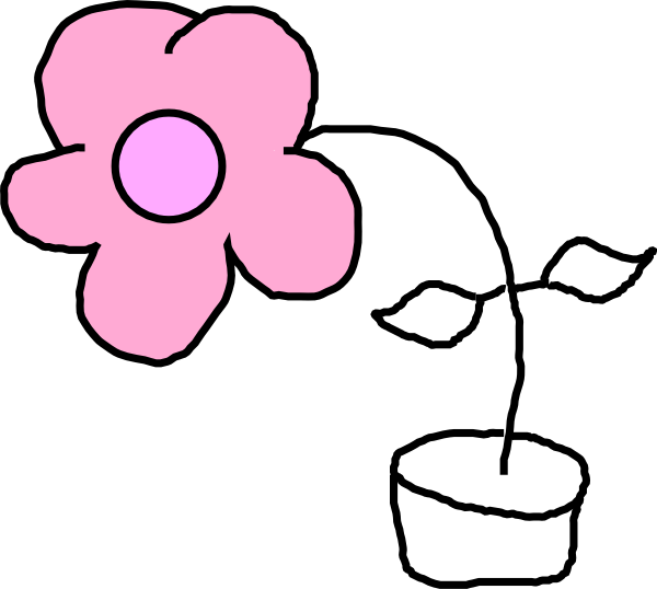 Kids Flower Clip Art - Kids Drawing Png (600x538), Png Download