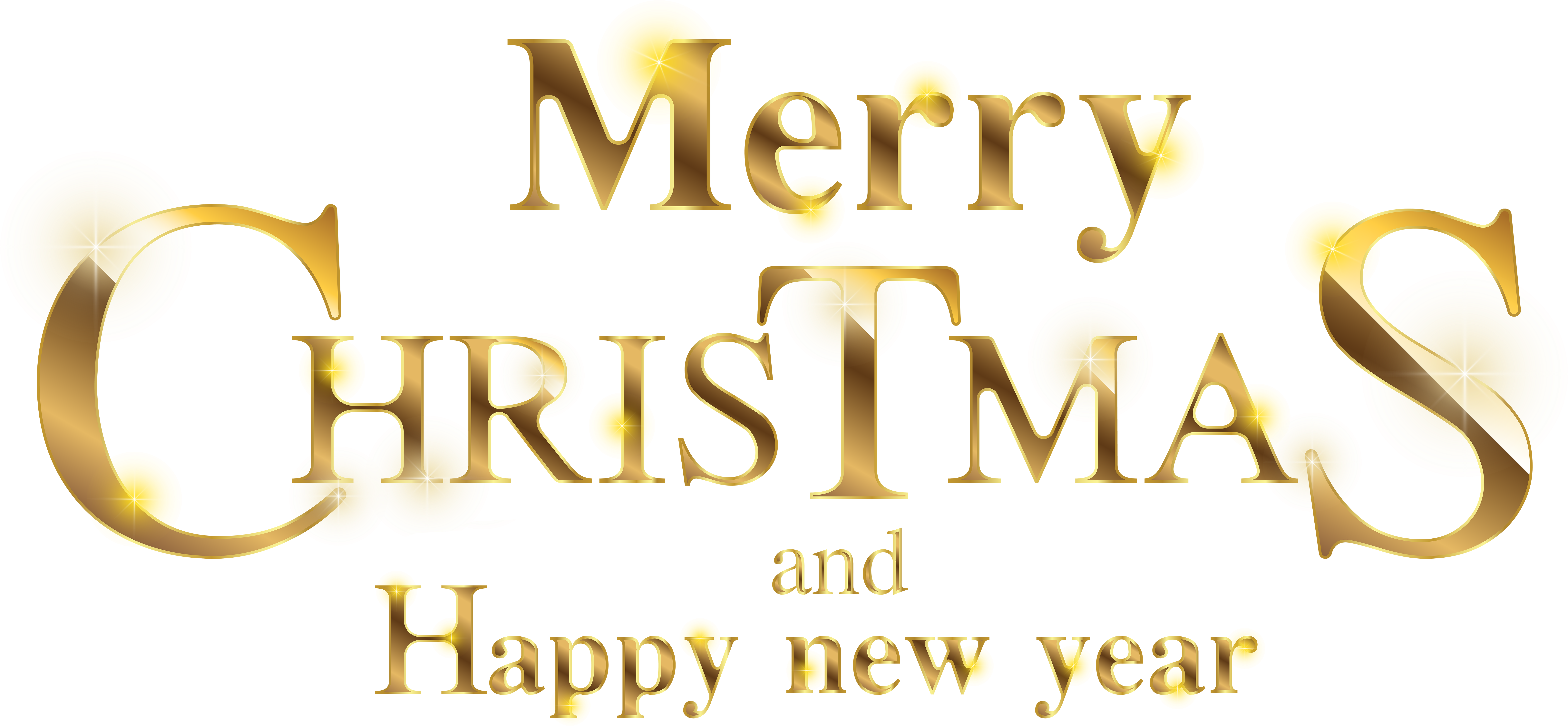 Merry Christmas And Happy New Year Transparent (8000x3761), Png Download
