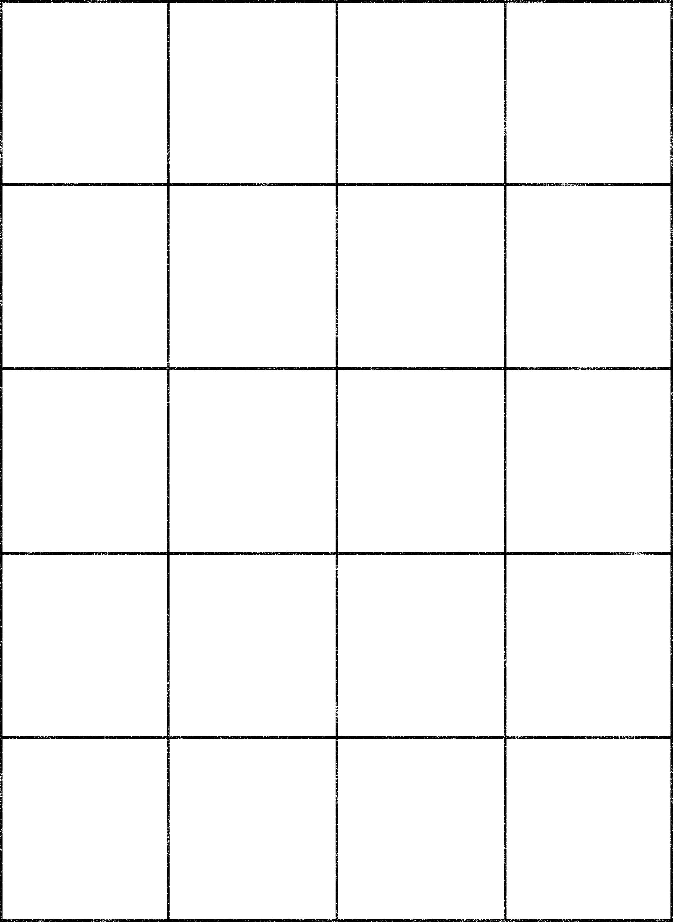 Drawing Grids Template - 4 X 4 Matrix (2244x3071), Png Download