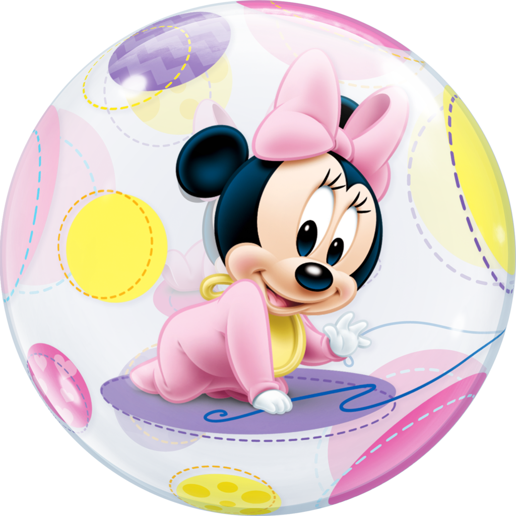 disney baby minnie mouse bubble balloon - baby minnie