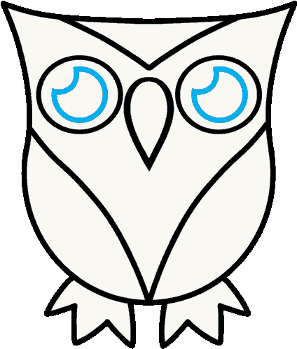 Download How To Draw A Cartoon Owl In A Few Easy Steps Easy Symmetrical Owl Drawing Clip Art Png Image With No Background Pngkey Com