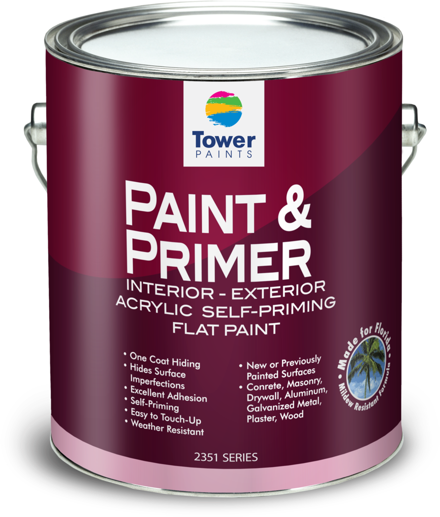 1 Gal Paint&primer Red - Glidden High Endurance Plus Exterior Flat Paint, 1 (1000x1166), Png Download