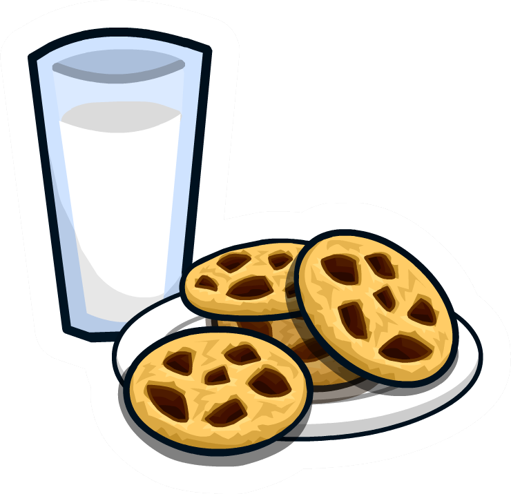 Milk 'n Cookies Pin - Milk And Cookies Png (740x716), Png Download