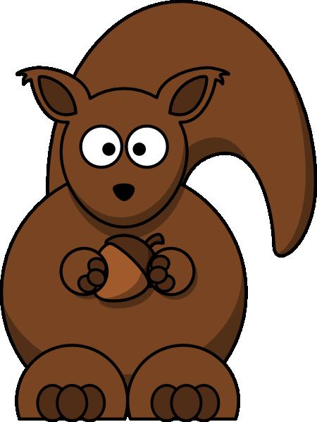 Cartoon Squirrel Clipper - Squirrel Clipart Transparent Background (450x598), Png Download