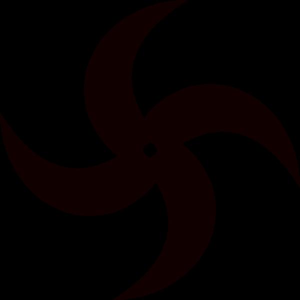 Picture Library Stock Helix Clip Art At Clker Com Vector - Ninja Star Clip Art (600x600), Png Download