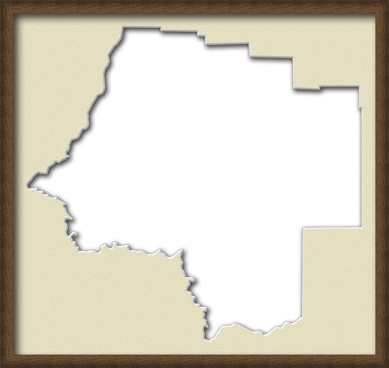 A Map Of Levy With A Wood Picture Frame With A Cream - Rustic Wood Frame (768x728), Png Download