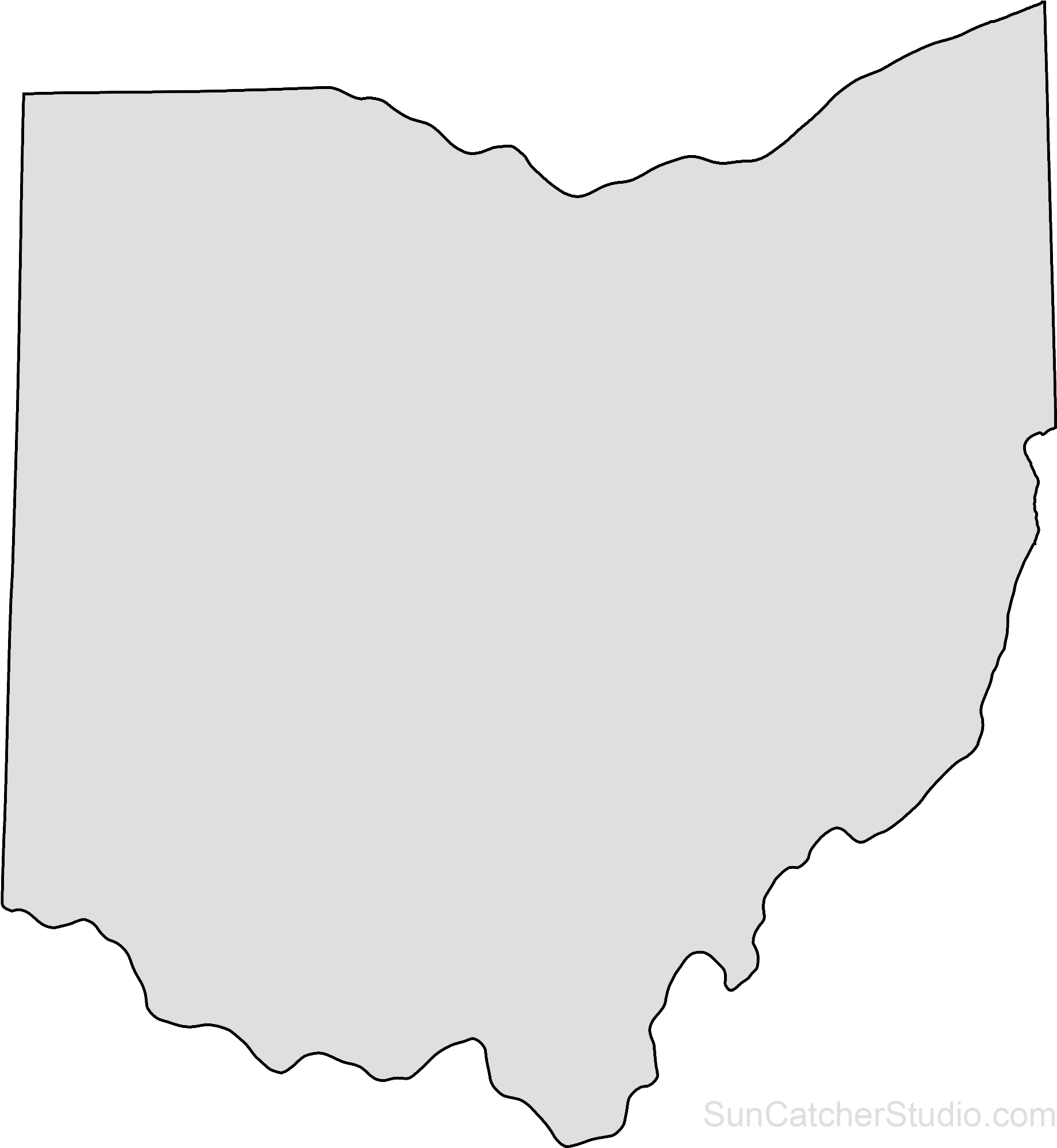 Download Ohio Map Outline Png Shape State Stencil Clip Art Scroll