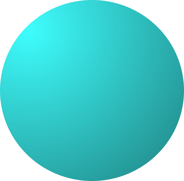 Download Cyan Dodgeball - Solid Color Circle Png PNG Image