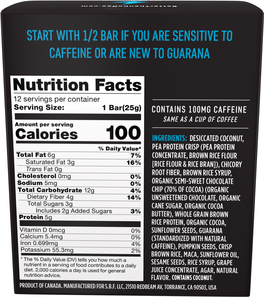 Download Our Nutrition Facts &