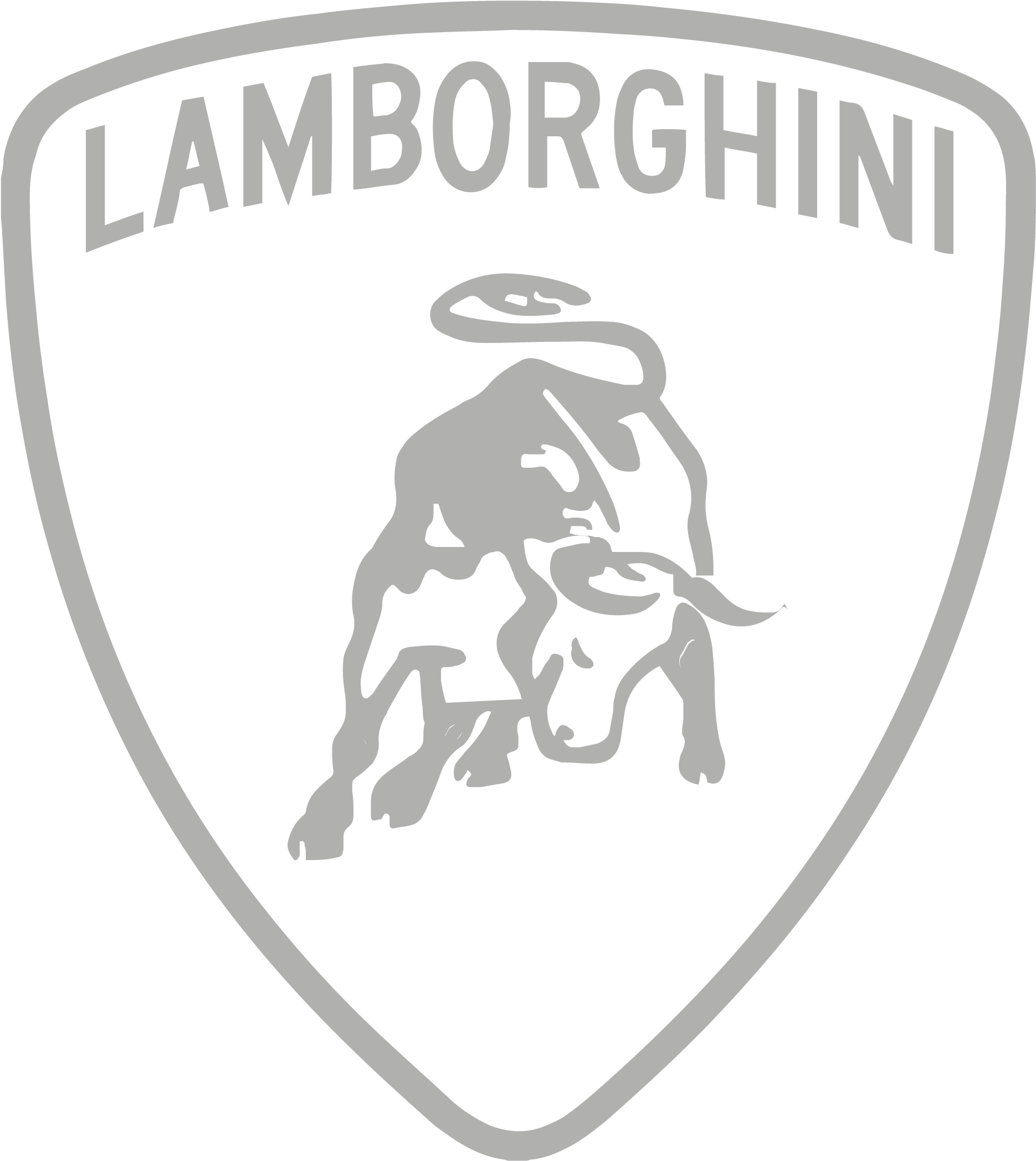 Lamborghini Logo White Background
