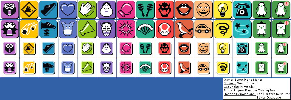 Download Click For Full Sized Image Sound Icons - Super Mario Maker