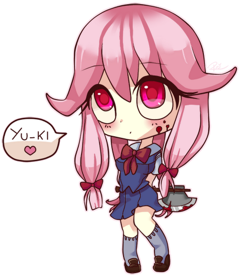 Photo - Chibi Anime Girl With Pink Hair (530x586), Png Download