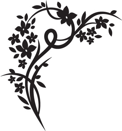 download elegant floral wall decal - wall art stickers png png image