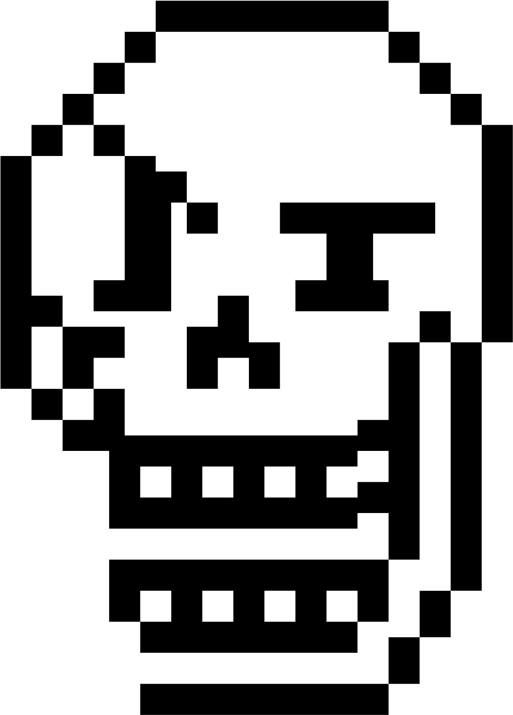Papyrus Face Png - No Face Pixel Art (1600x1600), Png Download