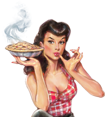 Pin Up Girl, Png, Transparent Background - Piehole Cherry Pie Liqueur, 750 Ml (355x400), Png Download
