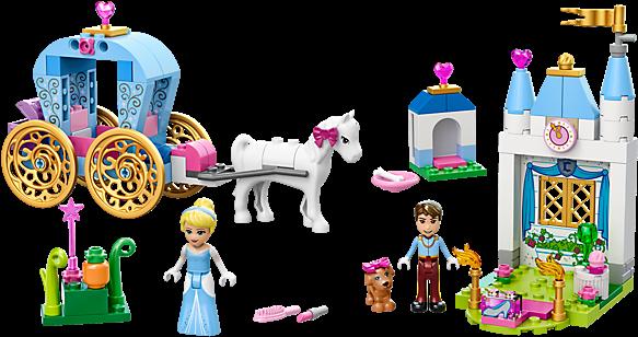 Cinderella's Carriage - Lego 10729 Juniors Disney Princess Cinderella's Carriage (600x450), Png Download