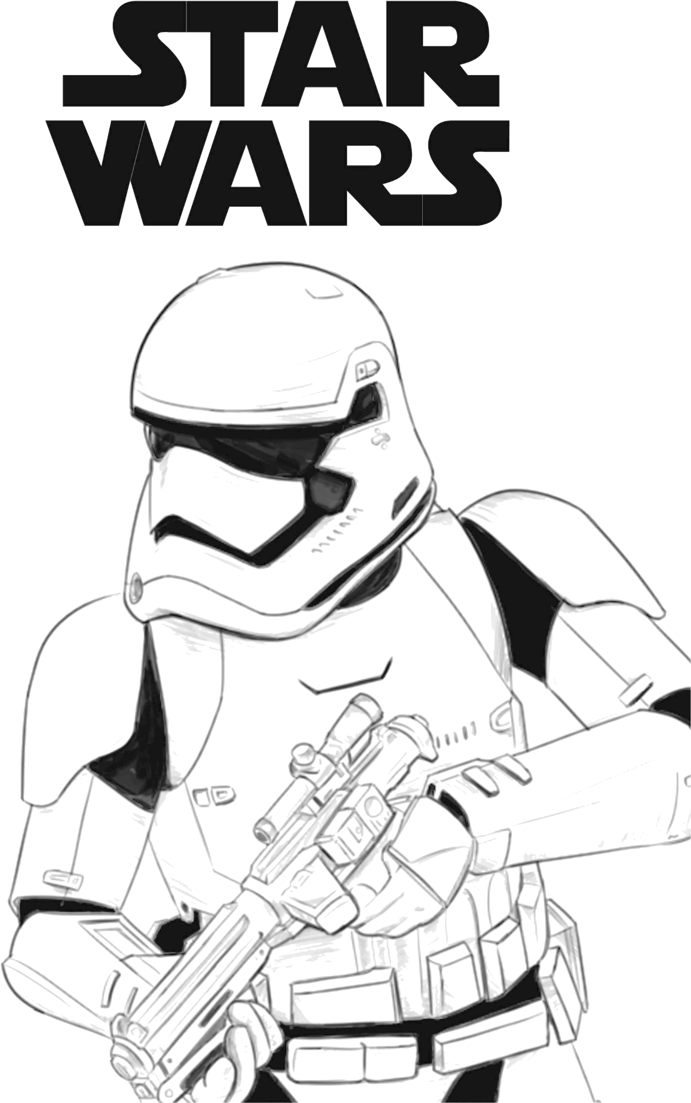 Download Star Wars First Order Stormtrooper Coloring Page Png Image With No Background Pngkey Com