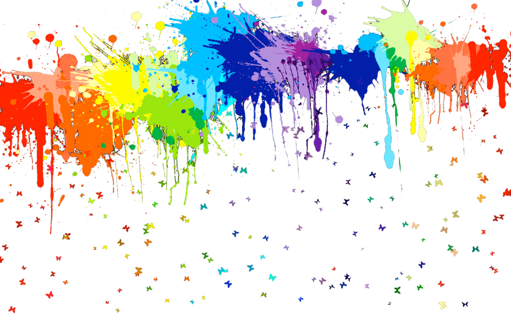 This Reminds Me Of Target Because They Have Stuff In - Rainbow Paint Splatter (1000x625), Png Download