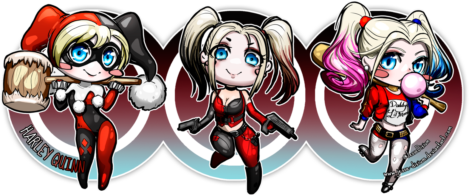 Download Harley Quinn Kawaii Png харли квинн чиби Png